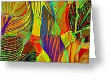 Pop Art Cannas Greeting Card by Deleas Kilgore