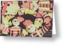 Pop Art Clown Circus Greeting Card