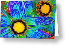 Pop Art Daisies 4 Greeting Card