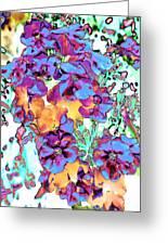 Pop Art Pansies Greeting Card
