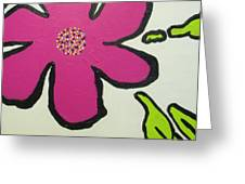 Pop Art Pansy Greeting Card