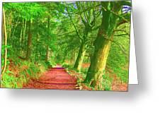 Pop Art Path Greeting Card