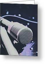Pop Art Performance In Disco Blues Greeting Card