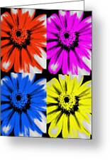 Pop Art Petals Greeting Card