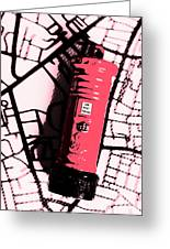 Pop Art Pillar Post Box Greeting Card