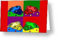 Pop Art Pug Greeting Card