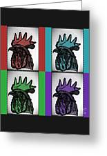 Pop Art Rooters Greeting Card