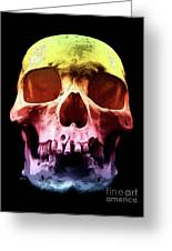 Pop Art Skull Face Greeting Card