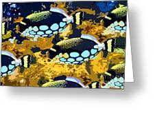 Pop Fish Greeting Card