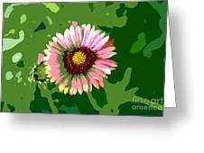 Pop Flower Work Number 23 Greeting Card