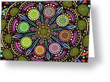 Pop Mandala Golden Greeting Card