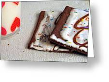 Pop Tarts And Milk Greeting Card