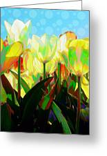 Popart Tulips Greeting Card