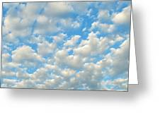 Popcorn Clouds Greeting Card