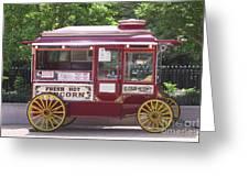 Popcorn Wagon Greeting Card