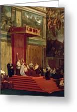 Pope Pius Vii Luigi Barnaba Chiaramonti Attending Chapel 1820 Greeting Card