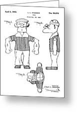 Popeye Doll Patent 1932 Greeting Card