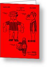 Popeye Doll Patent 1932 In Red Greeting Card