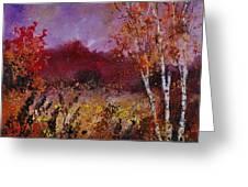 Poplars In Autumn  Greeting Card