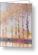 Poplars On The Banks Of The Epte Greeting Card