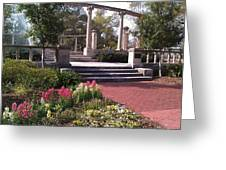 Popp Fountain Brickway Path Greeting Card