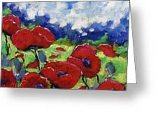 Poppies 003 Greeting Card