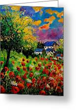 Poppies And Daisies 560110 Greeting Card