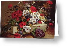 Poppies And Daisies  Greeting Card