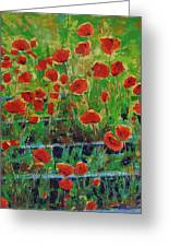 Poppies And Traverses 1 Greeting Card