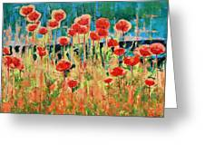 Poppies And Traverses 2 Greeting Card