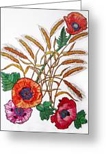 Poppies And Wheat Greeting Card
