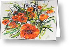 Poppies And Wildflowers Greeting Card