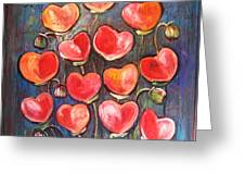 Poppies Are Hearts Of Love We Can Give Away Greeting Card