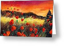 Poppies At Sunset 67 Greeting Card