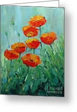 Poppies For Sally Greeting Card