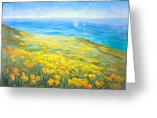 Poppies Greeting Whales Greeting Card