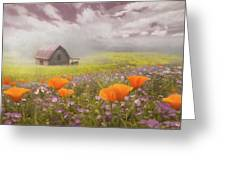 Poppies In A Dream Watercolor Painting Greeting Card