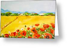Poppies In Alentejo Greeting Card