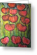 Poppies In Oil Greeting Card