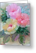 Poppies In Pastel Colors Greeting Card