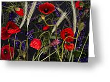 Poppies In The Corn Greeting Card