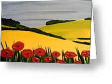 Poppies In The Hills Greeting Card