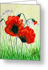 Poppies In The Wild Greeting Card