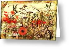 Poppies In Waving Corn Greeting Card