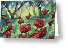 Poppies Through The Forest Greeting Card
