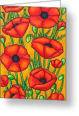 Poppies Under The Tuscan Sun Greeting Card