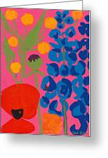Poppy And Delphinium Greeting Card