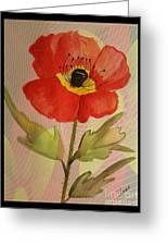 Poppy Art 17-01 Greeting Card