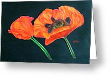 Poppy Bud And Bloom Greeting Card