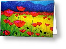 Poppy Cluster Greeting Card